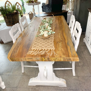 Trestle Dining Table  with Stools
