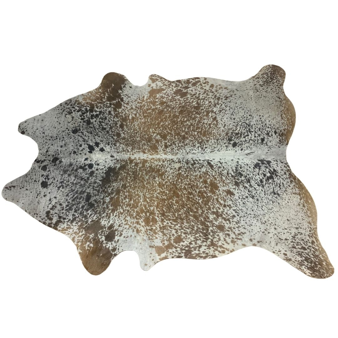 Salt and Pepper Brazilian Cowhide Rug - XL