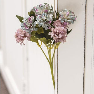 *Purple/Blue Petite Hydrangea Pick