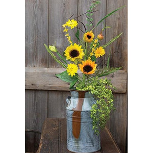 Sunflower Pick w/Ferns & Berry 28""