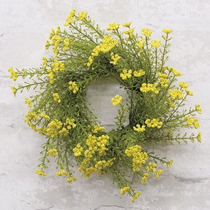 "Astilbe Candle Ring 3"" Yellow"