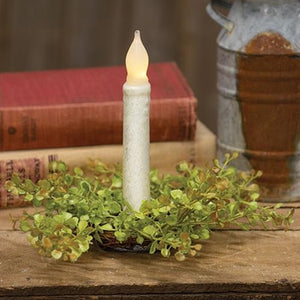 "^Baby's Grass Candle Ring 9"" Light Green"