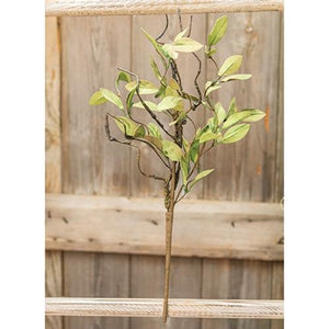 Sage Leaves & Twigs Pick 16""