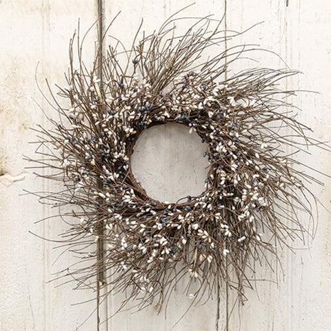 Farmhouse Mix Pip Twig Wreath 16""