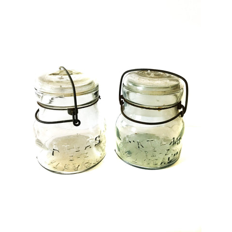 Atlas E-Z Seal Fruit Jars with wire bale