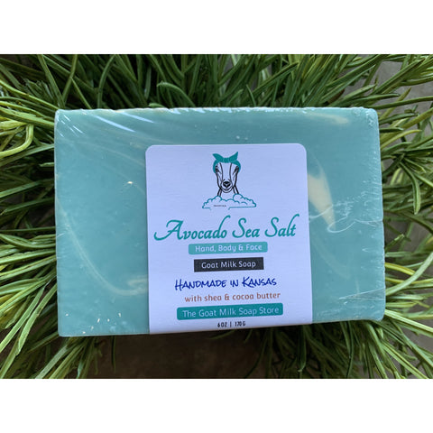 Avocado Sea Salt Goat Milk Soap