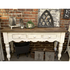 White Distressed Sideboard Buffet