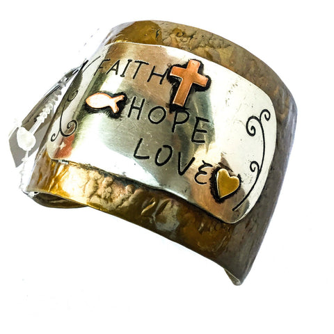 Faith Hope Love Cuff Bracelet