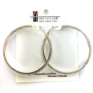 Large Fashion Crystal Hoop Earrings