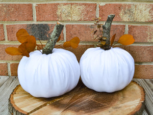 White Pumpkin Set of 2