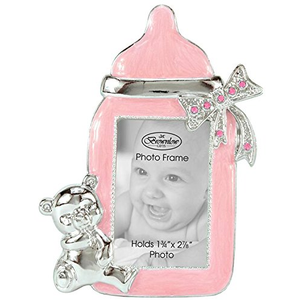 Pink Baby Bottle Photo Frame