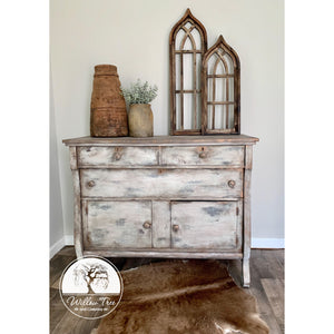 Painted server - antique chest - entryway chest