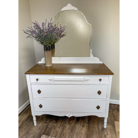 Painted Vintage Dresser with Mirror
