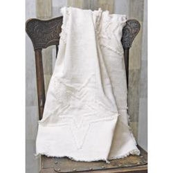 Antique White Woven Throw