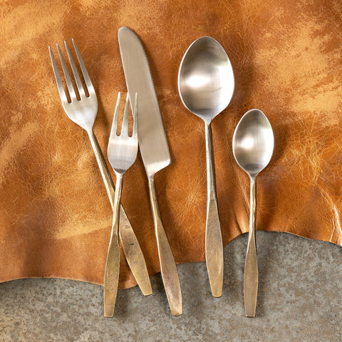 Antique Gold Colonial Flatware