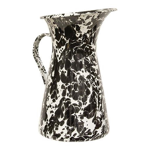 Black and White Swirl Pitcher