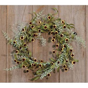 Bird's Eye Daisy Garden Wreath