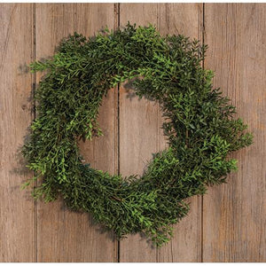 New England Boxwood Wreath 18""