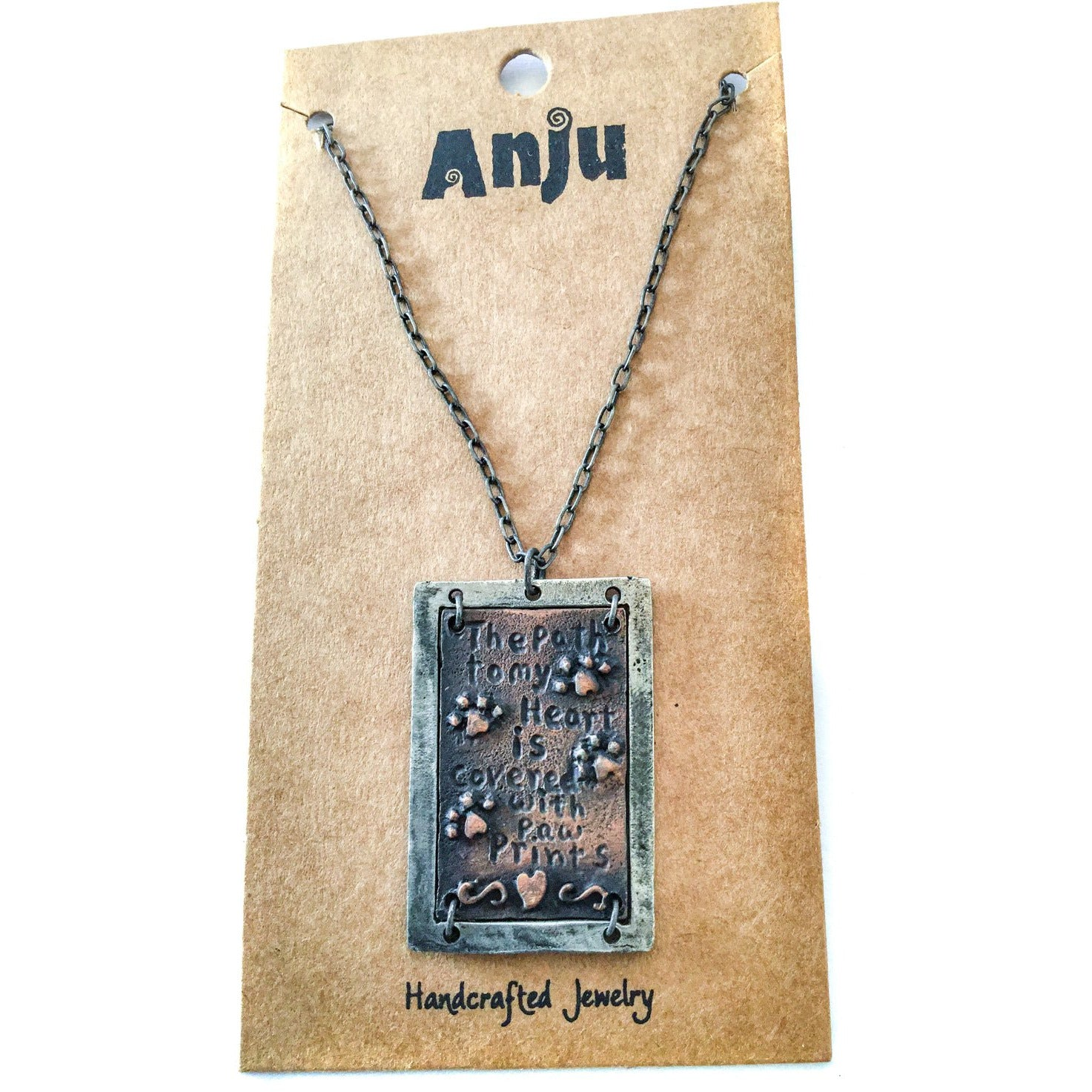 Path To My Heart Dog Necklace