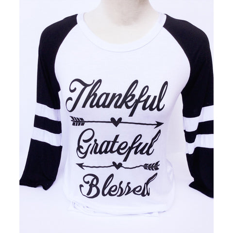 Thankful, Grateful, Blessed T-Shirt Small