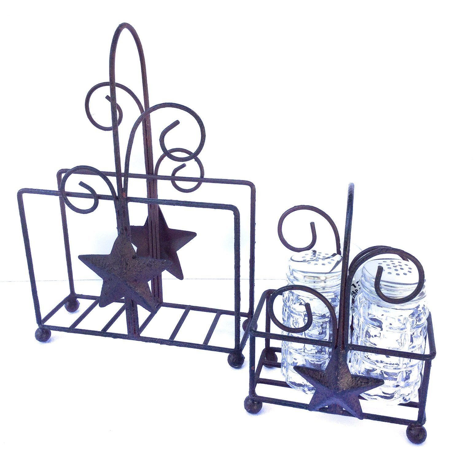 Rustic Star Napkin and Salt and Pepper Caddy