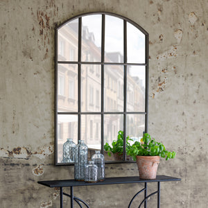 Arched Metal Warehouse Mirror