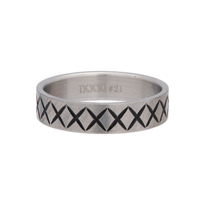 Bague Cross Line 6 mm Argent Mat - iXXXi For Men