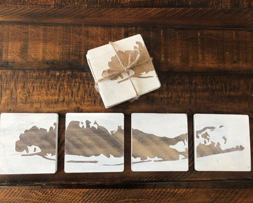 The Repurposed Pallet - Set of 4 Split Long Island Map Coasters