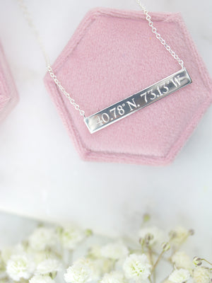 Humble & Spark Long Island Coordinates Necklace