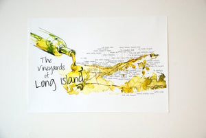 Vineyards of Long Island art in chardonnay