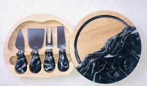 MD Artistry - Resin Painted Cheese Board Set