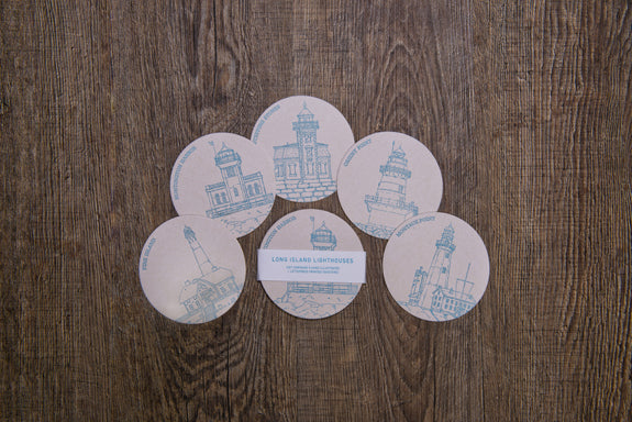 Lighthouse coasters Long Island themed gifts