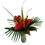 ROUND CONFETI BOUQUET | TROPICAL FLOWERS