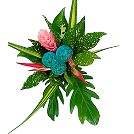 ROUND LOLIPOP BOUQUET | TROPICAL FLOWERS