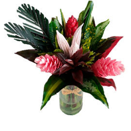 ROUND MIRACLE BOUQUET | TROPICAL FLOWERS