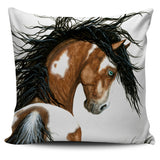 """Kipitaki"" ""Magnificent"" Silky Horse Cushion Covers in White Background - Horse Deco Store"