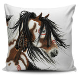 """Raweno"" ""Magnificent"" Silky Horse Cushion Covers in White Background - Horse Deco Store"