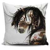 """Wakanda"" ""Magnificent"" Silky Horse Cushion Covers in White Background - Horse Deco Store"