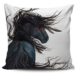 """Shiok"" ""Magnificent"" Silky Horse Cushion Covers in White Background - Horse Deco Store"