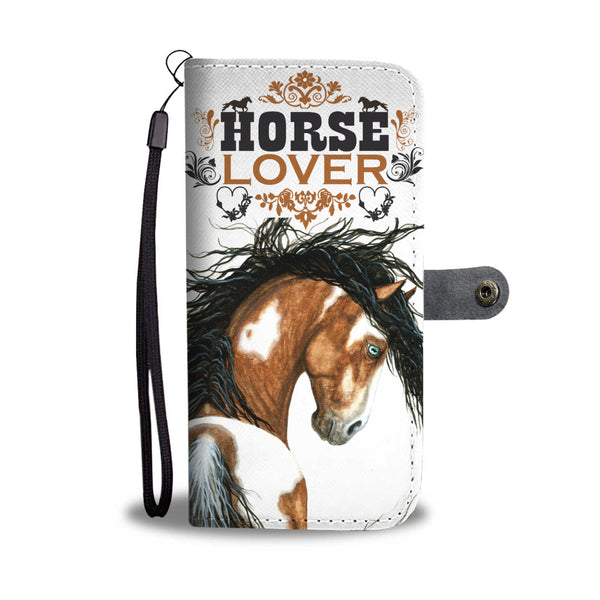 """Horse Lover"" Wallet Phone Case in White Background - Horse Deco Store"