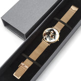 """Raweno"" Horse Steel Strap Water-Resistant Perpetual Calendar Quartz Watch 