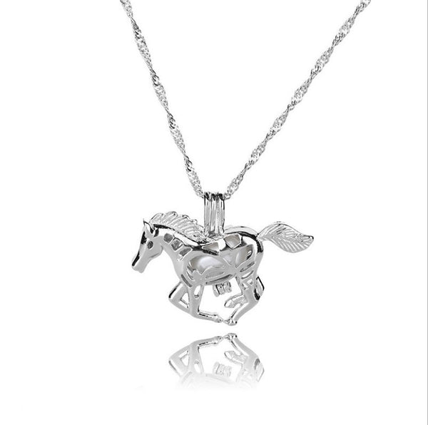 """Casanova"" Horse Luminous Necklace in White Background - Horse Deco Store"