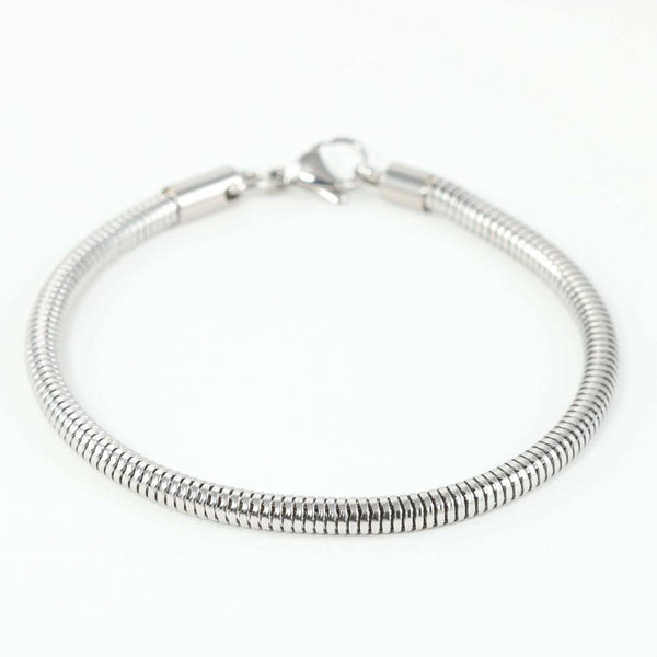 Beautiful Stainless Steel Ball Clasp Style Bracelet in White Background - Horse Deco Store