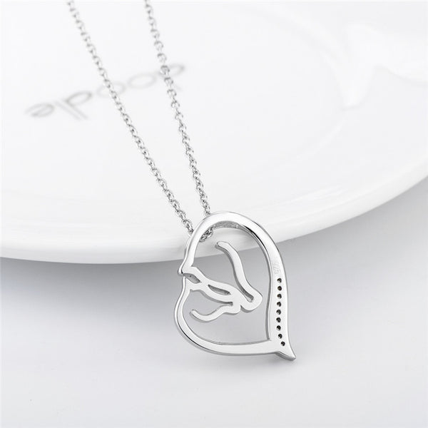 """Sweet"" Horses Silver Necklace - Horse Deco Store"