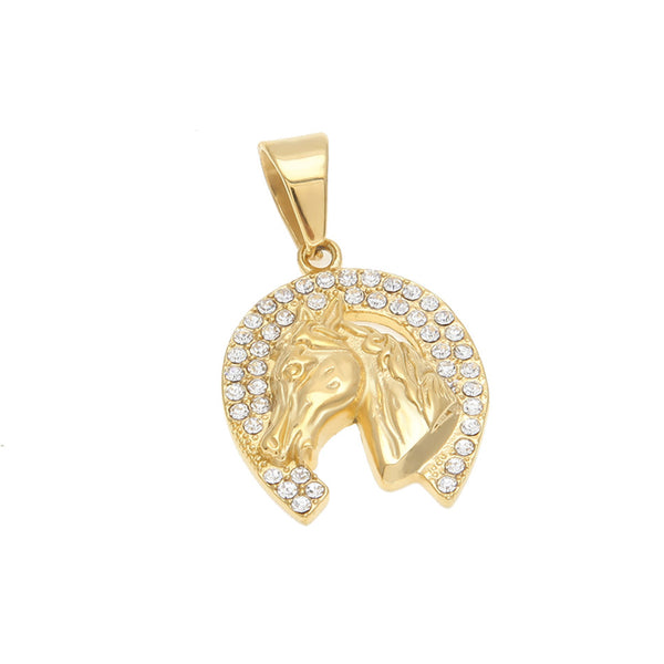 """Felicity"" Horseshoe Charm in White Background - Horse Deco Store"