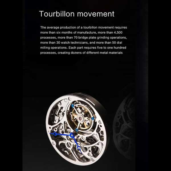 "Tourbillon movement of ""Randolph"" Horse Luxury Watch in Black Background - Horse Deco Store"
