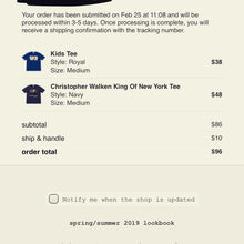Load image into Gallery viewer, Supreme King Of New York Tee