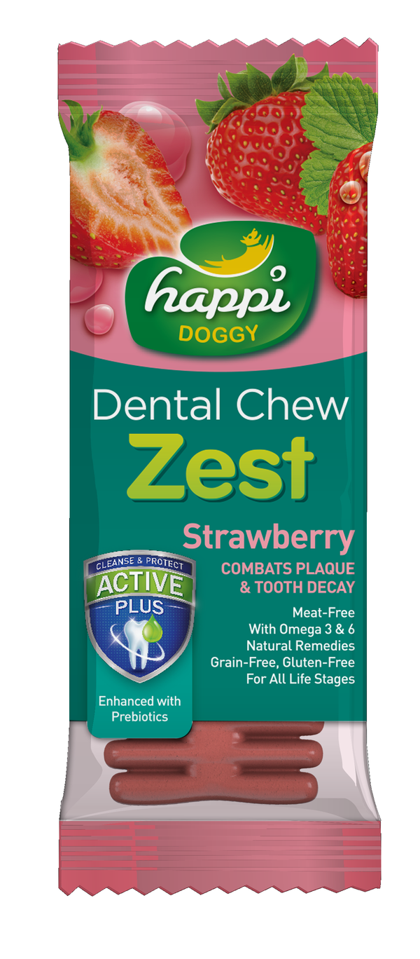 Happi Doggy Strawberry Zest Dental Chew