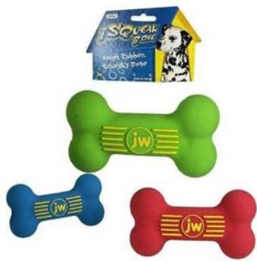 JW Isqueak Bone Rubber Dog Toy