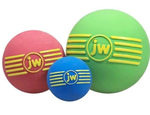 JW Pet Isqueak Ball Rubber Dog Toy